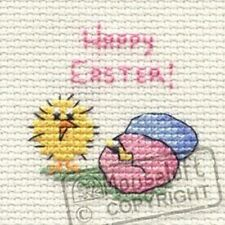 Mouseloft Mini Cross Stitch Card Kit  - Special Occassions - Happy Easter Chick