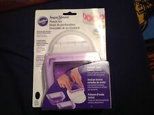 wilton sugar sheets punch set including oval cutting insert brand new sealed