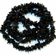 """MP2373p Black 8mm-14mm Flat Nugget Chip Mother of Pearl Gemstone Shell Beads 30"""""""