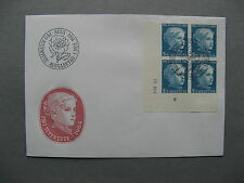 SWITZERLAND, cover FDC 1964, dated cornerblock of 4, platenumber, painting Anker