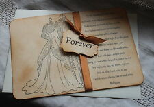 FOREVER-HUSBAND TO BE CARD-Groom-Wedding Day-Personalised-Vintage Style-Handmade