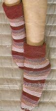 VINTAGE KNITTING PATTERN FOR COSY BED SOCKS in DK - EASY - worked on 2 needles