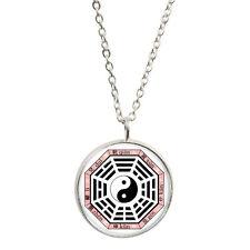 Bagua Pendant & Silver Plated Necklace Ba Gua Taoist cosmology pakua taiji BNIB