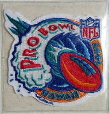 1997 PRO BOWL PATCH ~ Willabee & Ward OFFICIAL NFL FOOTBALL with Info Stat Card
