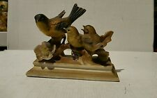 BRINNS BEAUTIFUL GOLD FINCH PORCELAIN BIRDS