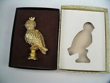 """CORDAY LE COQ D'OR """"FAME"""" SOLID PERFUME COMPACT - GOLDEN COCKEREL BOXED"""