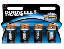 4 x Duracell MX1400 LR14 MN1400 Ultra Power 1.5v C Size Alkaline 4 x Batteries