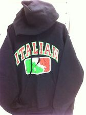 Italian Soccer Crest Numero Uno Jumper Hoodie Italia Football Italy Medium New