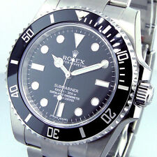 ROLEX 114060 SUBMARINER BLACK CERAMIC BEZEL STAINLESS STEEL