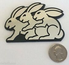 HUMPING BUNNY 3 RABBIT BADGE VW GTI GL GOLF EOS AUDI BMW SEXY BUNNIES FREE SHIP