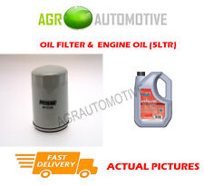 PETROL OIL FILTER + FS 5W40 ENGINE OIL FOR ROVER 214 1.4 75 BHP 1990-95