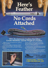 1986 vintage Computer AD FEATHER Cordless Pen Input Device (082915)