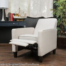 Living Room Furniture Light Beige Fabric Club Chair Recliner