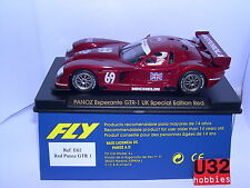 FLY E-62 PANOZ ESPERANTE GTR 1 UK SPECIAL EDITION RED  . MB