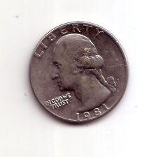 Stati Uniti   USA   Quarter Dollar  1/4 $    1981     BB    (m429)