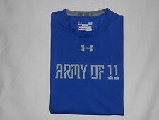 UNDER ARMOUR COMPRESSION SHIRT Heat Gear Army of 11 Blue Sleeveless Men size LG