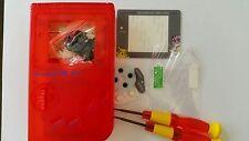 CARCASA COMPLETA+PANTALLA COMPATIBLE GAME BOY CLASSIC POKEMON CLEAR REDNEW/NUEVO