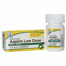 Quality Choice Aspirin 81mg Low Dose Enteric Coated 120 Tablets