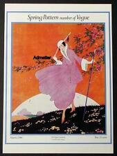 VOGUE FASHION MAGAZINE COVER POSTER MARCH 1 1916 SPRING PATTERN ART DECO PRINT