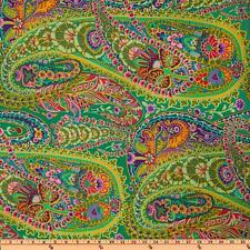 KAFFE FASSETT PAISLEY Fabric Fat Quarter Cotton Paisley Jungle Green