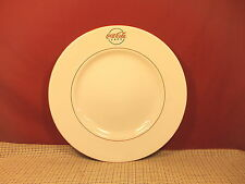 """Gibson Dinnerware Coca Cola Cafe Diner Pat. Large  Dinner Plate 11 1/2"""" Red Trim"""