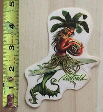 RIETVELD SURF MERMAID SURFBOARD ART STICKER MAUI & SONS RARE ALOHA PALMS