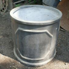 55cm Fibreclay Faux Lead Chelsea Cylinder Garden Planter - CLEARANCE Round Pot