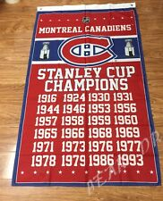 Montreal Canadiens NHL Stanley Cup Champions Banner Championship Flag