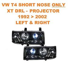 VW T4 Transporter Van & Bus DRL XTB Black Projector Headlights SHORT NOSE ONLY