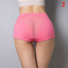 Women's Crotchless  Hollow Mesh Cotton Knickers Briefs Shorts Panties L