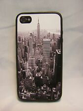 NEW YORK CITY B& W  IMAGE #1  FITS  iPhone 4 i Phone 4 S4 Cover Case Skin Rubber