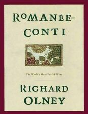 Romanee Conti Olney, Richard Hardcover