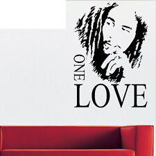 Bob Marley One Love Graphic Removable Vinyl Wall Sticker Fine Home Decor WWS