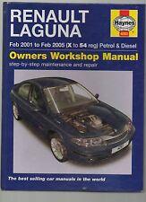 HAYNES OWNERS WORKSHOP MANUAL RENAULT LAGUNA 2001 - 05 X - 54 REG PETROL DIESEL