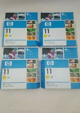 4 New Sealed Box Genuine OEM HP 11 Yellow Jaune C4838AN InkJet Exp Date Aug 2007