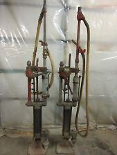 TWO Antique Gilbert & Barker T-6 model 3 Self Measuring Gas Pumps Vintage Old