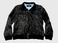 Black Rivet Mustang Leather Jacket w/ Quilted Shoulders Black Large NWT $650
