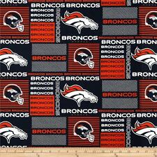 NFL DENVER BRONCOS  PATCH 100%  COTTON FABRIC  BY THE 1/4 YARD