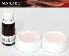 Acryl-Set 2x10g Camouflage Pulver PINK, SWEET PINK + Liquid 10 ml NAIL1EU