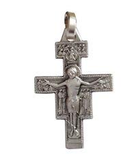 CROCEFISSO DI SAN DAMIANO IN ARGENTO MASSICCIO 925