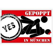 Aufkleber - GEPOPPT in München - 12 cm - sticker - sex sexy poppen Fun Gag Trend