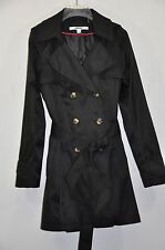 NWT Women DKNY Hooded Double-Breasted Trench Coat. Sz.S