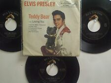 LOT OF 4  'ELVIS PRESLEY' HIT 45's+1PS[Let Me Be Your TEDDY BEAR] THE 50's&60's!