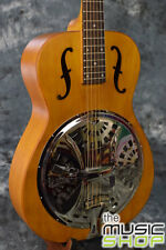 Epiphone Hound Dog Dobro Round Neck Resonator Guitar with F Holes- Vintage Brown