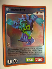 CARTE INVIZIMALS N° 065 SNOWCASTER NOUVELLE ALLIANCE OR NEUF
