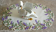 """LAVENDER DREAMS  Lace  17""""  Placemat  / Table Runner  Doily"""