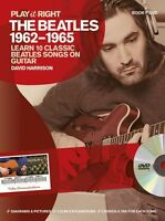 Play It Right The Beatles 1962-1965 Learn to Play Guitar TAB Music Book & DVD