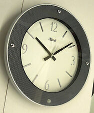 "CONTEMPORARY LOOKING ROUND 11.75"" WALL CLOCK MADE BY THE HERMLE CLOCK COMPANY"