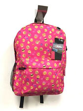 Emoji Backpack Pink School Bag Pack Back Shoulder Smile Smiley Face Emoticon USA