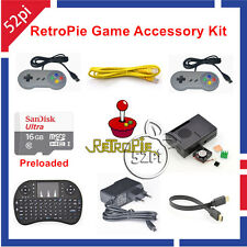 Raspberry Pi 3 Model B 16GB Preloaded RetroPie Game Console Accessories Kit